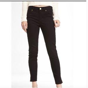 Express High Rise Ankle Zipper Leggings Jeans